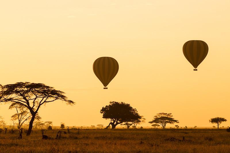 There are few more memorable ways to see the Serengeti than with a sunrise hot air balloon experience