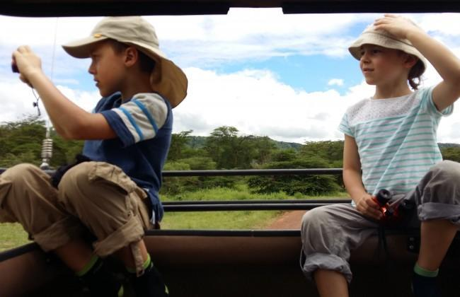 young explorers on safari