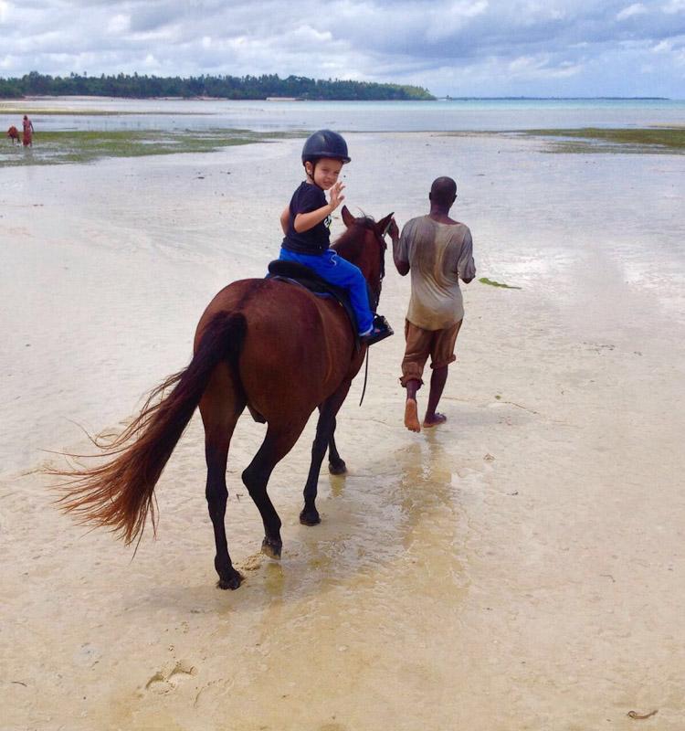 horse riding zanzibar