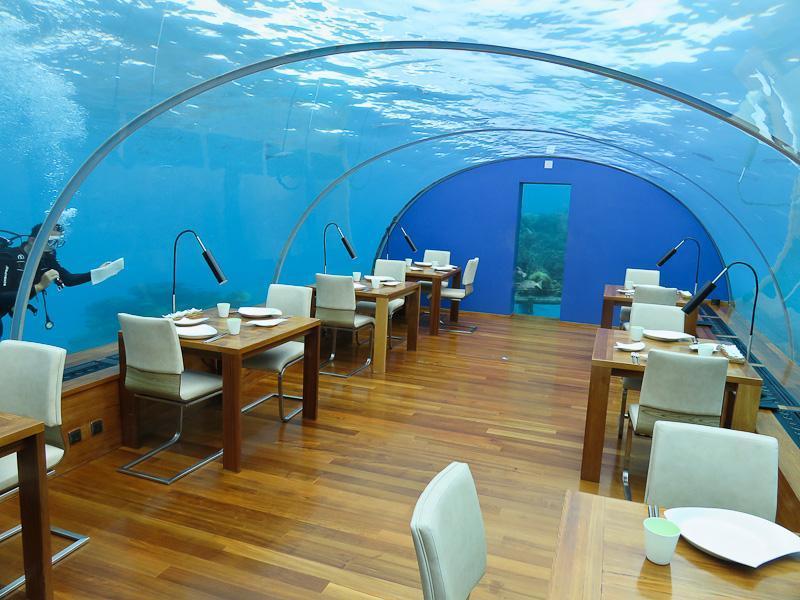 ithaa underwater restaurant conrad maldives