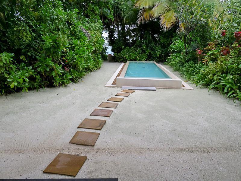 conrad maldives private plunge pool