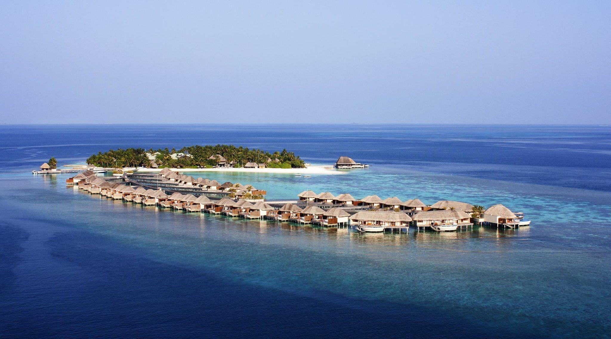 w maldives aerial view