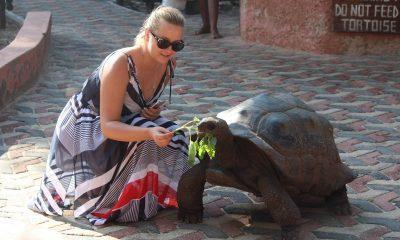 Lesia & Julia from the team visit Prison Island, Zanzibar
