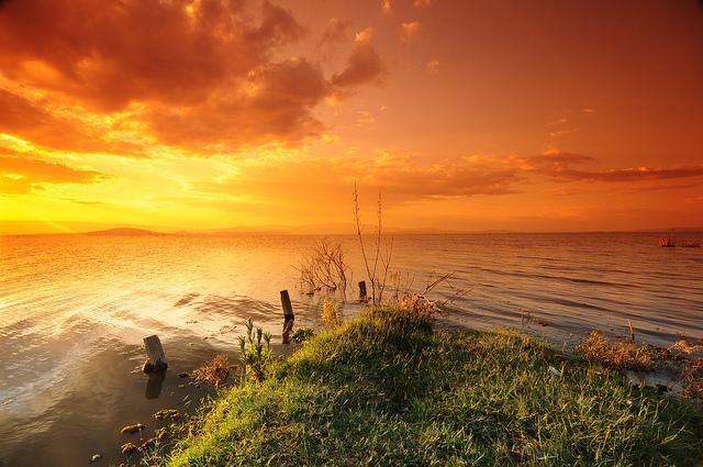 lake naivasha kenya sunset