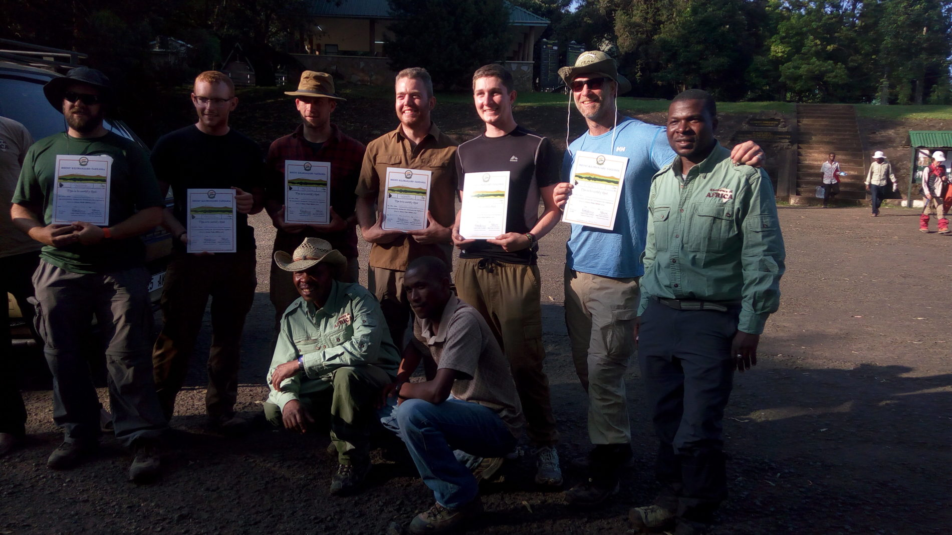 Kilimanjaro climb certificates