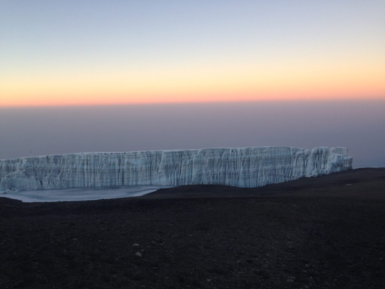 Kilimanjaro climb view