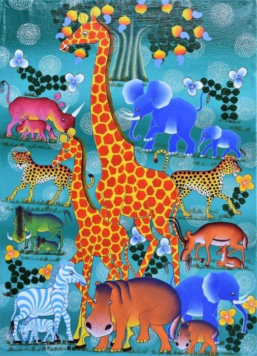 tinga tinga art giraffes