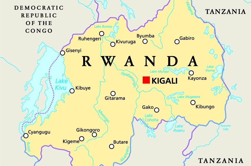 Maps of  Rwanda