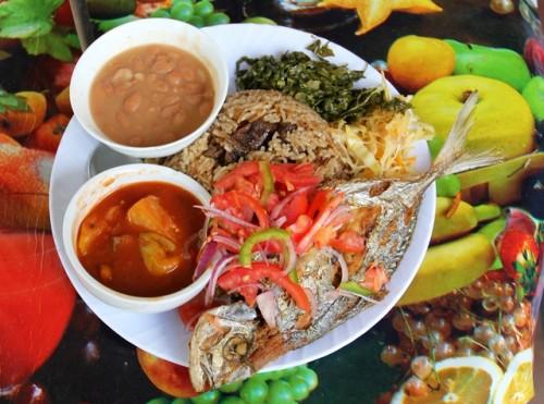 Testing traditional Tanzanian food