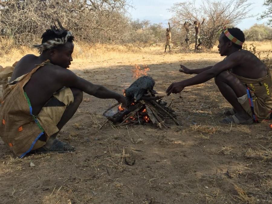 Hadzabe tribe visit at Lake Eyasi