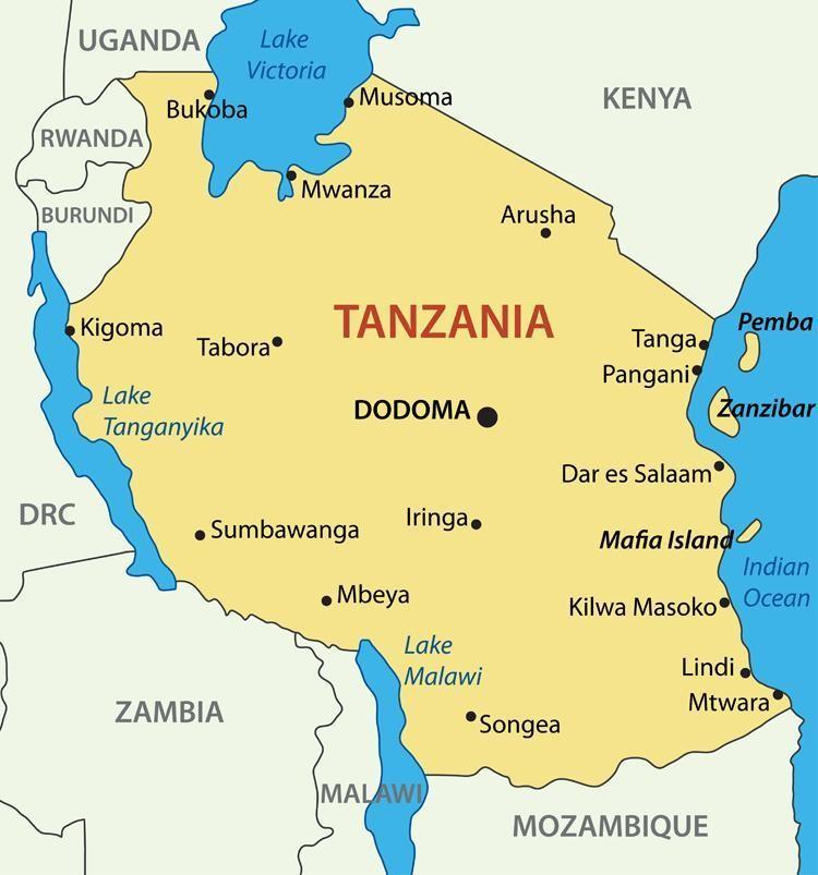 Карты Танзании
