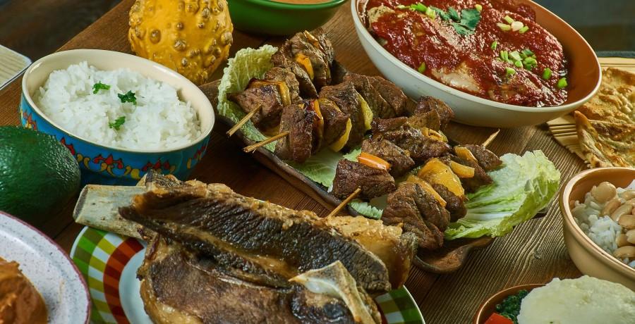 Tasting traditional Tanzanian food