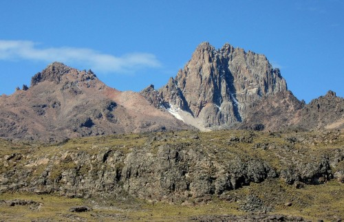 There are many peaks on Mount Kenya