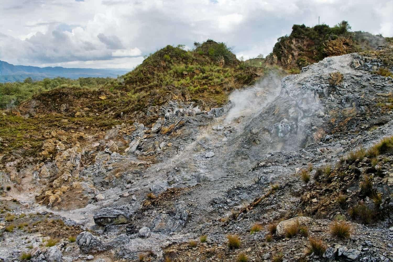 Volcanic landscape. Hells Gate National Park Kenya
