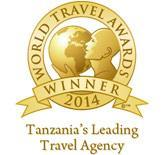 Tanzania leading Travel Agency Award 2015