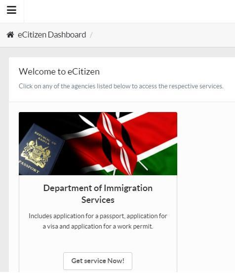 kenya online visa ecitizen