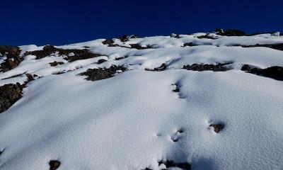 kilimanjaro slope snow
