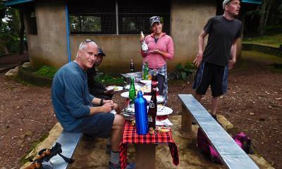 post climb celebration kilimanjaro champagne