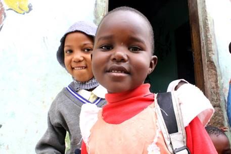 Smiling faces at Kibowa Orphanage, Arusha.