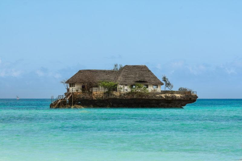 zanzibar beaches rock restaurant