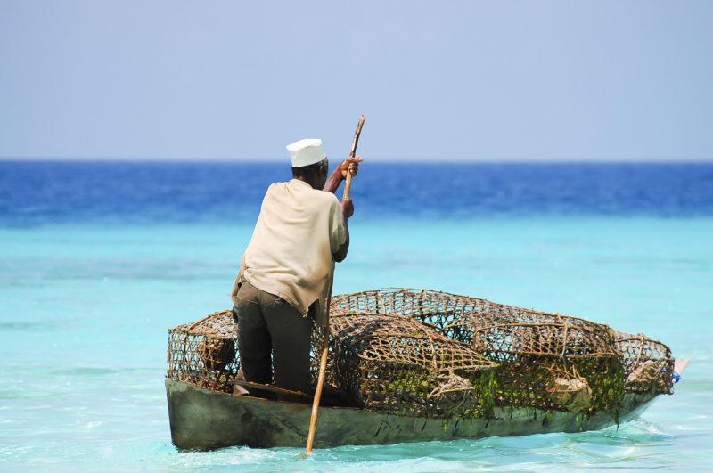 Zanzibar beaches fisherman