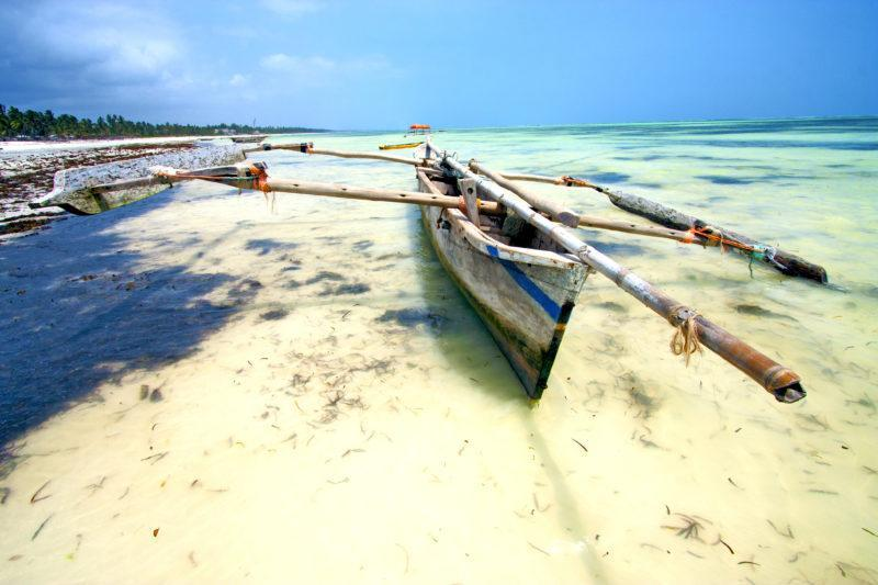 zanzibar beaches reef outrigger beautiful view
