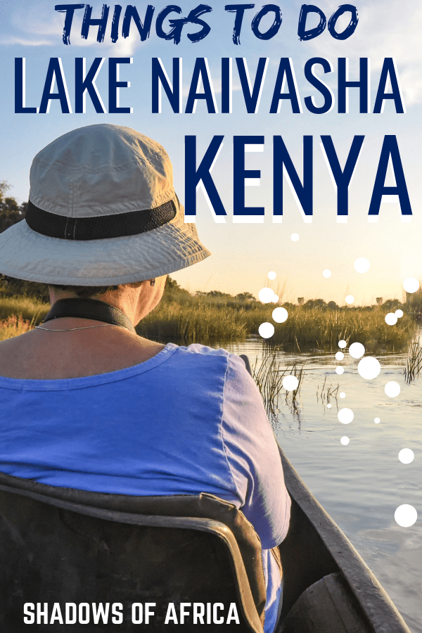 On your Kenya safari, be sure to visit Lake Naivasha! Here you can try a boat safari, spot flamingos, and visit the Cradle of Mankind. Be sure to add lake Naivasha to your Kenya safari itinerary! #kenya #lakenaivasha #africa #safari #travel