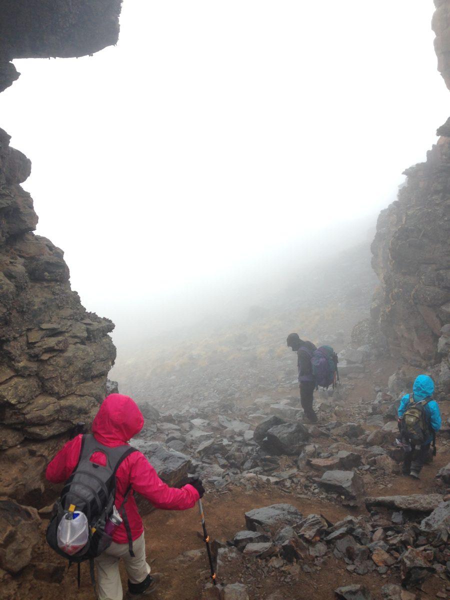 Kilimanjaro climb mist