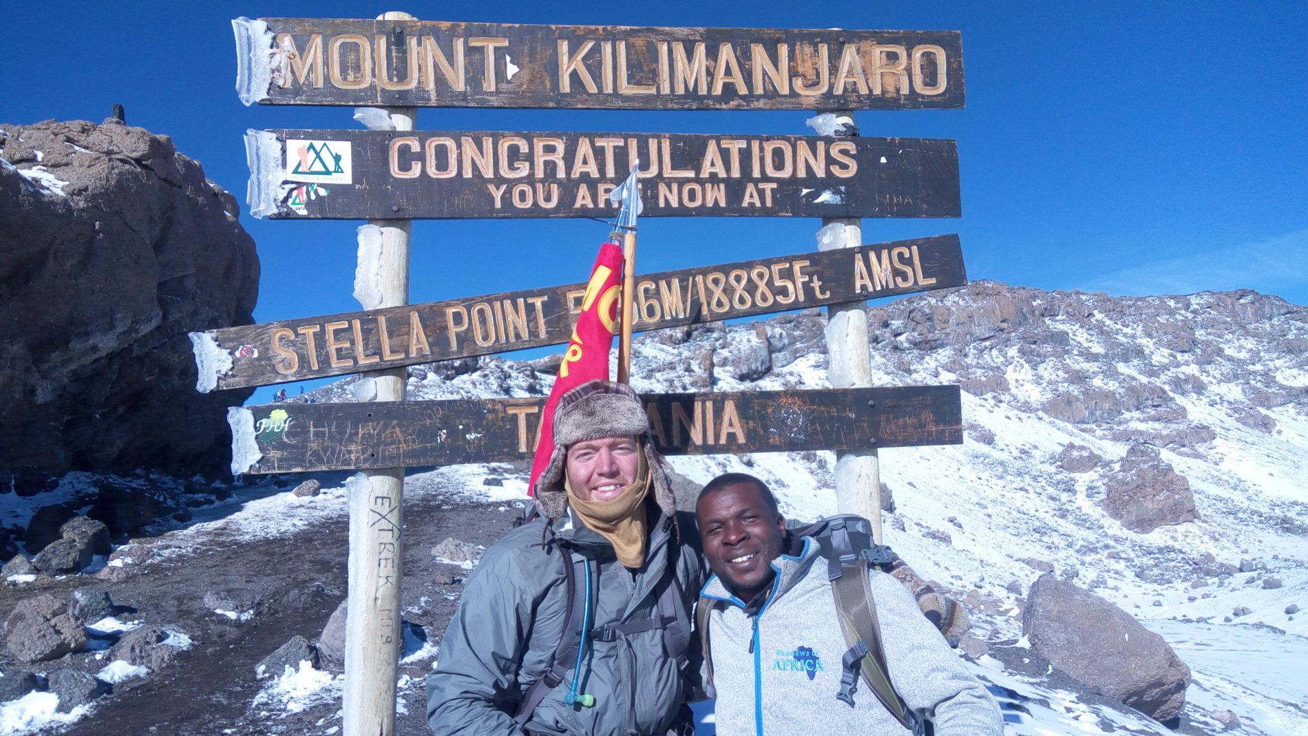 Kilimanjaro climb sign