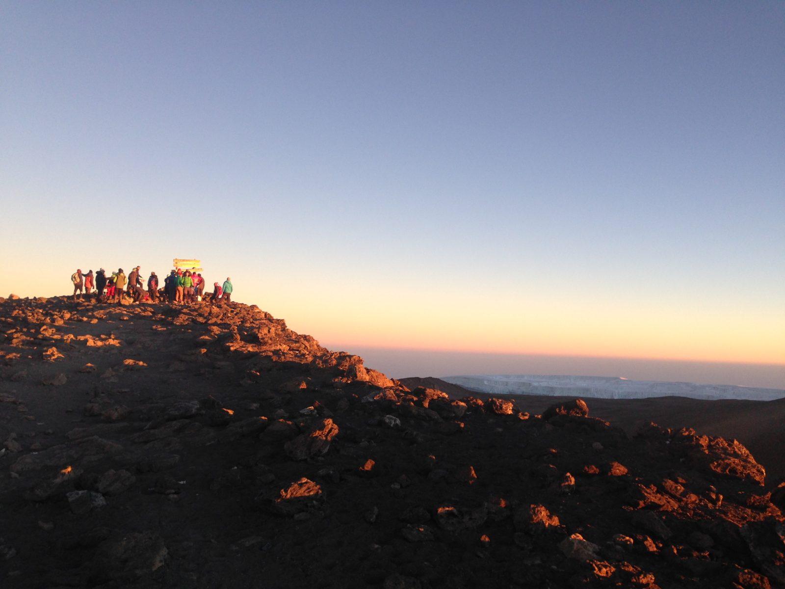 Kilimanjaro climb sunrise