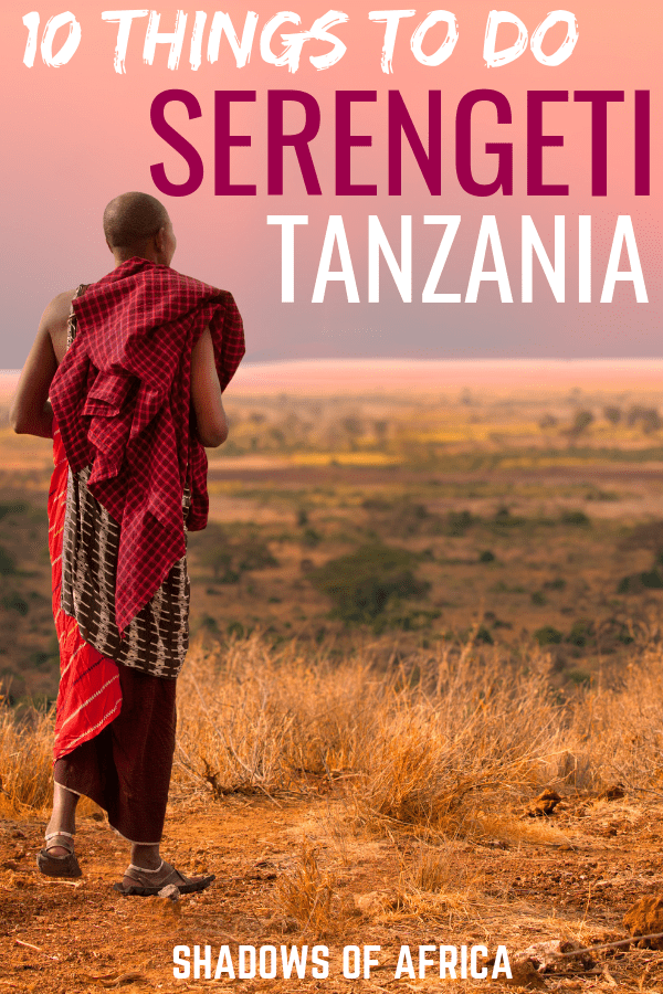 Are you planning a safari to Tanzania's Serengeti National Park? Here are the top 5 things you need to do on a Serengeti safari trip in Tanzania! #serengeti #safari #tanzania #travel